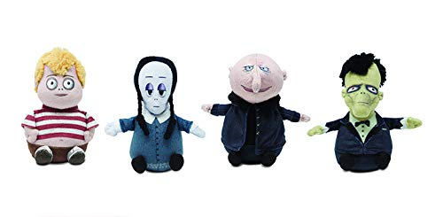 Cuddle Barn   Addams Family 6' Plush Movie Characters Musical Plush Collectibles   Squeeze Wednesday, Pugsley, Fester and Lurch to Hear The Addams Family Theme Song Collect 4 (Set of 4)