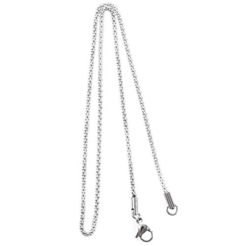 GGBEST Cadena de Mujer de joyeria, Collar Cadena coraza del Acero Inoxidable, Plata – 2 mm de Ancho - 40 cm de Longitud