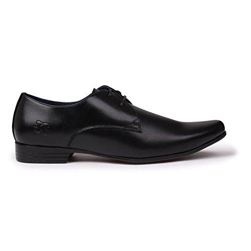 Giorgio Herren Langley Schuhe Derby Schnürschuhe Halbschuhe Genähtes Detail Schwarz 11 (45)
