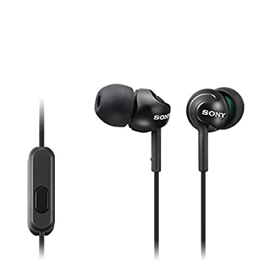 Sony MDREX110APB.CE7 Deep Bass Earphones with Smartphone Control and Mic - Metallic Black from Sony