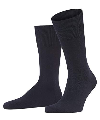 FALKE FALKE Herren Socken Airport, mit Merinowolle und Baumwolle, Business Socken zum Anzug, Blau (Dark Navy 6370), 41-42, 1er Pack