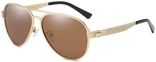 DUCO Pilot Premium Military Style Sunglasses for Men 100% UV Protection Polarized 3028