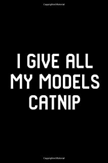 I Give All My Models Catnip Pet Stunt Coordinator Filmmakers College Ruled Notebook: Blank Lined Journal