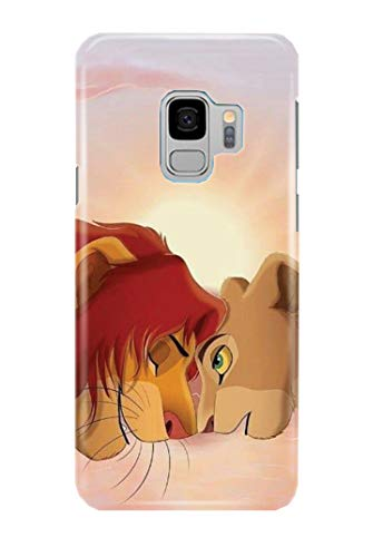 Case Me Up Coque téléphone pour Samsung Galaxy S9 Lion King Simba Mufasa Scar Timon Pumbaa Disney 21 Dessins