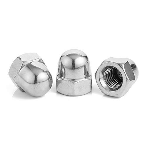 Acorn Cap Nut M3/M4/M5/M6/M8/M10/M12/M14/M16 M18 decorativo de acero inoxidable Cap Nuts/Caps, acero inoxidable 304 M3 50pcs
