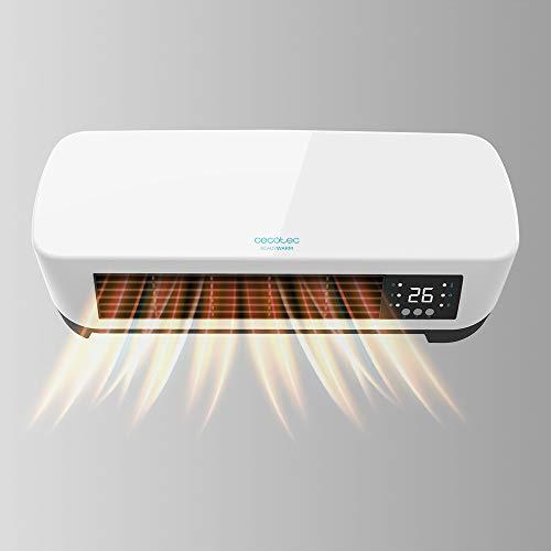 Cecotec Calefactor Cerámico de Pared Ready Warm 5200 Box Ceramic. Pantalla Digital, IPX2, Mando a Distancia, Temporizador, 3 Modos, Protección sobrecalentamiento, 2000 W