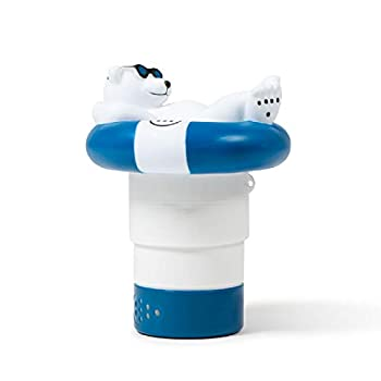 Milliard Chlorine Tablet Floater for 1 and 3 Inch Tablets Cute Floating Chlorine Holder and Dispenser  Polar Bear  Large and Small Pools Hot Tub Spa