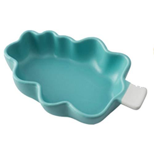 ZEQUAN Placa De Cerámica, Puré De Patata, Árbol De Navidad, Hornear Matte, Risotto Bowl (Color : Blue)