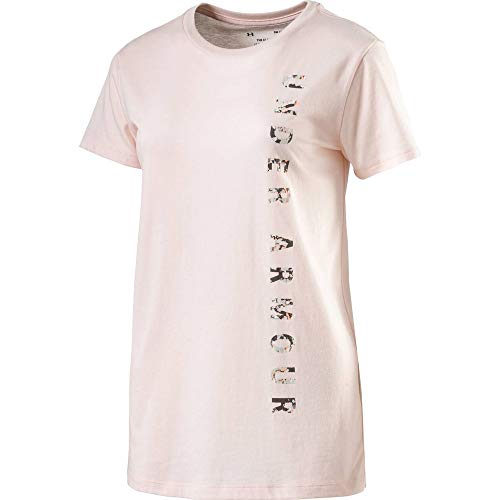 Under Armour Vertical WM Graphic Classic Crew Camiseta, Mujer, Naranja (Orange Dream/Mango...