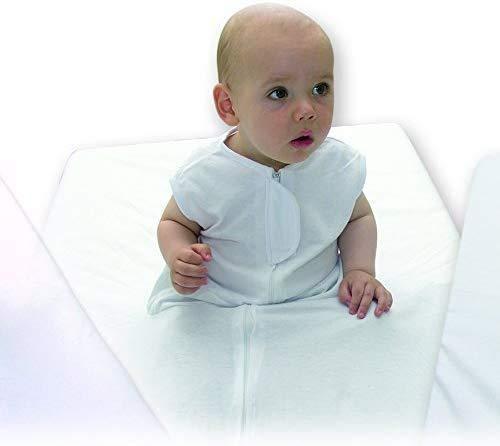 Ti TIN - Sábana Bajera de Seguridad para Bebés 100% Algodón | Sábana Infantil para Cama de 90, Color Blanco, 90x190 cm. Es Ideal para etapas de transición de la Cuna a la Cama