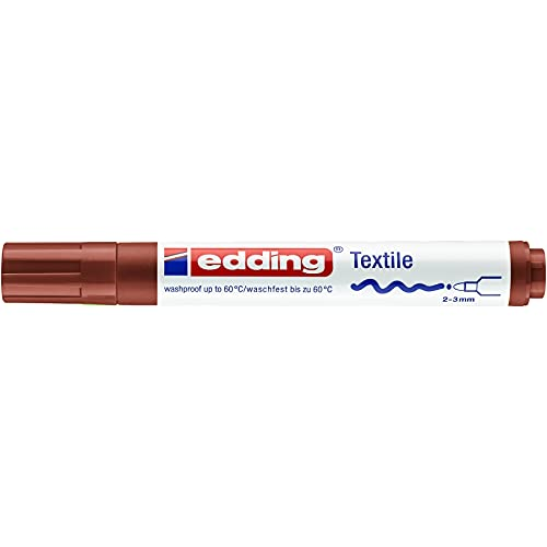 edding Textilmarker edding 4500 creative Rundspitze, 2-3 mm, braun