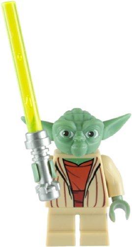 Lego Star Wars: Master Yoda Minifigure With Green Lightsaber