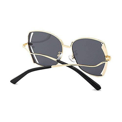 WMYATING Gafas de sol, ojos, a prueba de luz y a prueba de tormentas de arena, Nuevas Gafas de sol polarizadas Caja de Hueco Gafas de Conducción 400 Protección Unisex Marco Dorado Lente