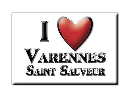 Enjoymagnets Varennes Saint Sauveur (71) Souvenir IMANES DE Nevera Francia Alsace IMAN Fridge Magnet Corazon I Love