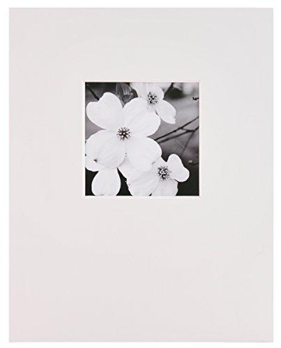 Nielsen Bainbridge 27,9x 35,6cm Artcare Künstlermappe (weiß vorgeschnittenen Matte mit 12,7x 12,7cm Querformat Öffnung