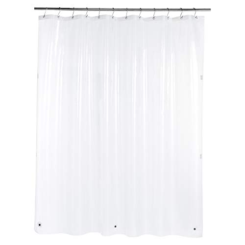 Amazon Basics – PEVA-Duschvorhang schwer, klar, 183 x 200 cm