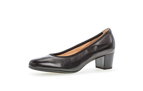 Gabor Damen Pumps, Frauen Klassische Pumps,Best Fitting,SACCHETTO Style, büro-Pump elegant edel bequem weiblich Lady Ladies,schwarz,40 EU / 6.5 UK