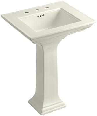 KOHLER K-2344-8-96 Memoirs Pedestal Bathroom Sink with Stately Design and 8