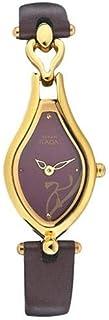 Titan Raga Women's Burgundy Dial Leather Band Watch - T2457YL02