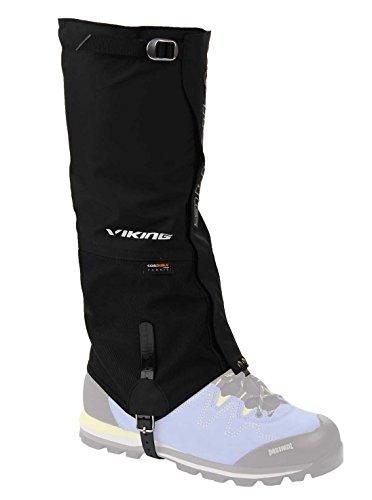 viking Gamaschen Damen und Herren wasserdicht Schneeschutz Regenschutz hoch - ideal für Outdoor und Trekking, sehr robust - 0374, 09 Schwarz, M