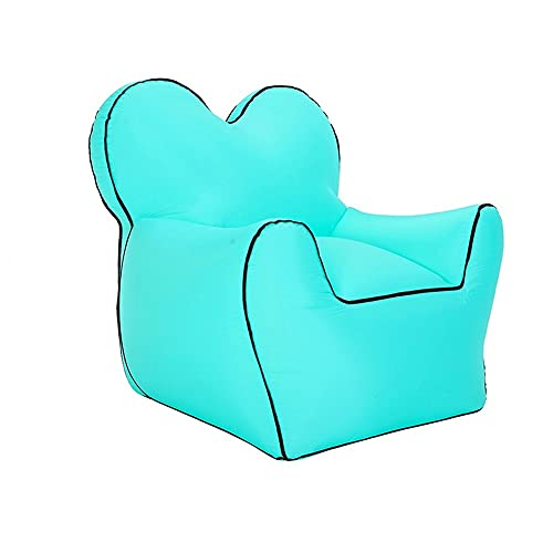 DXQDXQ Beach New Inflatable Lounger Lazy Air Sofa Garden Camping Beach Portable Inflatable Sofa Air Bed Waterproof Air Hammock Indoor Outdoor Inflatable Couch Couch (Color : Green)