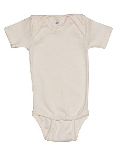 Baby Body kurzarm, Baumwolle (kbA), Engel Natur, Gr. 62/68