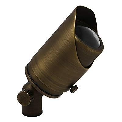 Lightkiwi C4573 Adjustable Focus Spotlight for Low Voltage Landscape Lighting - Brass