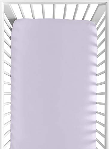 Sweet Jojo Designs Lavender Purple Baby or Toddler Fitted Crib Sheet for Watercolor Floral Collection