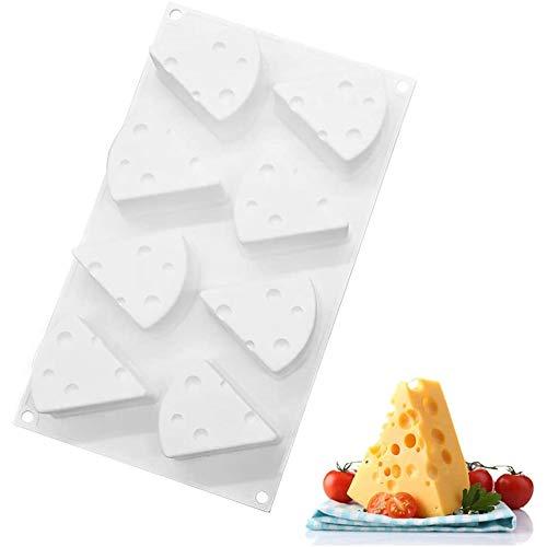 Moule à fromage, moule en silicone pour gâteau au fromage à 8 cavités, résistant aux hautes températures, cuisson au bricolage, mousse antiadhésive, biscuits au chocolat, moule à dessert, pâtisserie