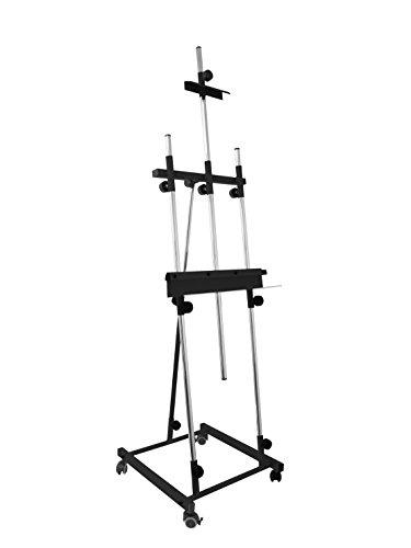 PIQUERAS Y CRESPO Sonpó Online – Modell Goya schwarz – Staffelei für Bilder – Gestell aus hochfestem Stahl mit schwarzer Oberfläche