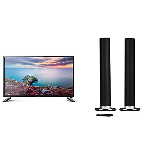 "Schneider TV LED 24"" Full HD, SC-LED24SC510K, HDMI, USB 2.0, 1920x1080p, Sintonizador DVB-T/2/C, Negra + Barra De Sonido Sc600Snd, Soundbar 2.0, 30W (15Wx2), Bluetooth, HDMI, Subwoofer Integrado"