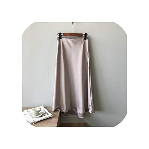 Solarphoenix zijde satijnen rok lange hoge taille Midi rok voor vrouwen een lijn herfst vrouw vissenstaart rokken