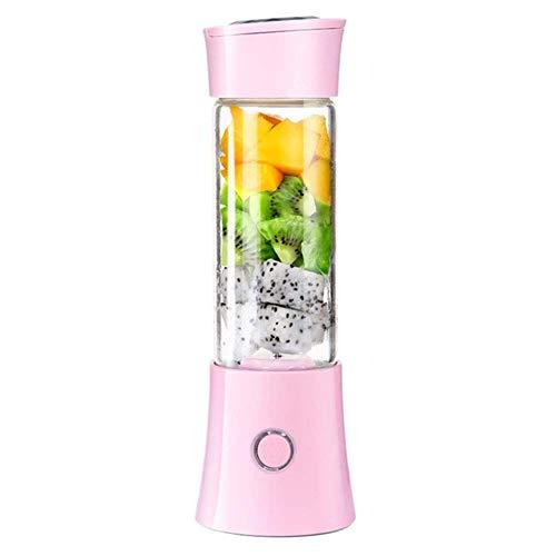 RTOFO Mini Blender Juicer Tamaño Personal, con 6 Cuchillas 480ml Smoothie Maker Juicer Mejers USB Recargable Solo para Fruta, Vegetal