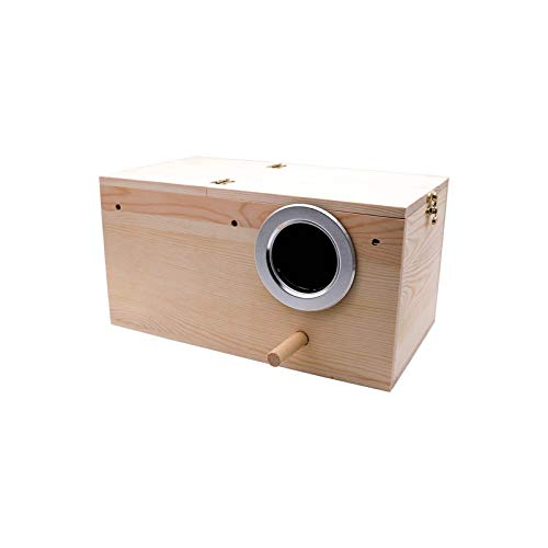 DEI Nesting Box Pine Wood Parrot Breeding Cage Bird House Mating Box for...