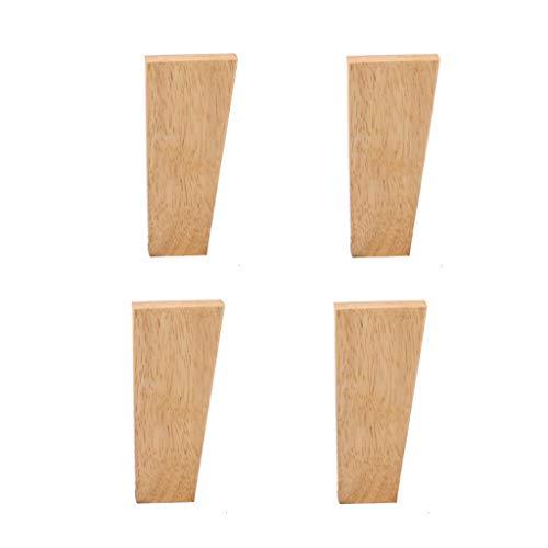 Möbelfüße Massivholzmöbel Füße Eiche Sofa Fuß Bett Fuß Couchtisch Fuß TV-Schrank Erhöhungsmatte Holzmöbel Stützfuß x4