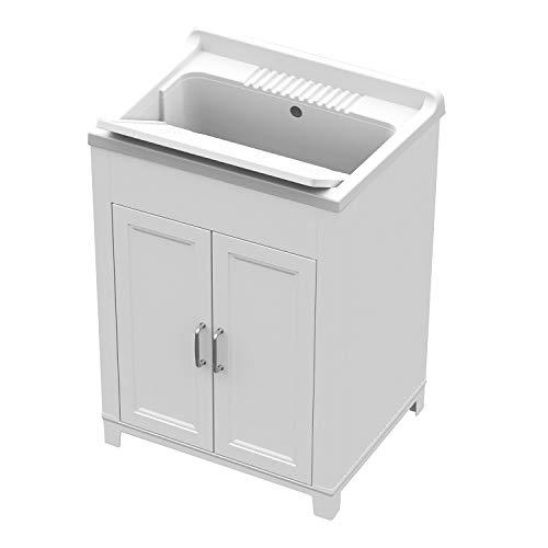 Mobile lavatoio con lavello 60 x 50 x 84 cm