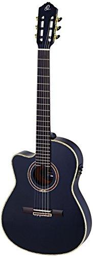Ortega RCE138-4BK-L - Guitarra electroacústica (para zurdos, tamaño 4/4)