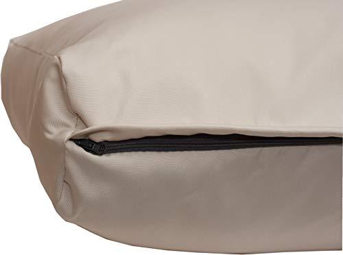 Beo Beo LRP 70x40PY200 Lounge Rückenkissen mit Reissverschluss und wasserabweisendem Stoff, beige, 70 x 40 cm