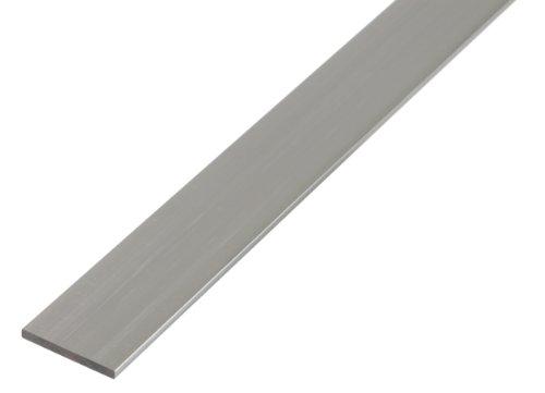 GAH-Alberts 474201 Flachstange - Aluminium, weiß, 1000 x 30 x 2 mm