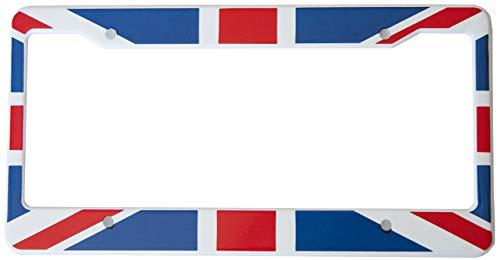 International Tie Flag-Themed License Plate Frame, High Grade 304 Stainless Steel (British)