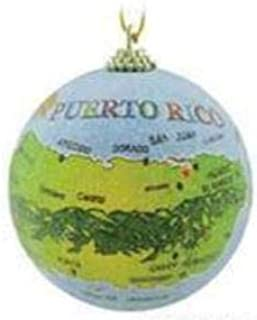 Puerto Rico Ornament Island Map Christmas Tree Decoration Gift Boxed