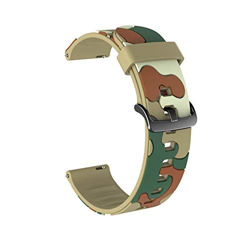 DAAGFC Correa de silicona colorida para Huawei Honor Reloj mágico 2 46 mm 42 mm Correa 20/22 mm Pulsera deportiva para Huawei Honor Cinturón mágico para Samsung Galaxy Watch Active2 40 mm 44 mm