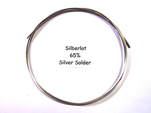 Silberlot 5 Gramm, für Schmuck 65% Hart, Silver Solder