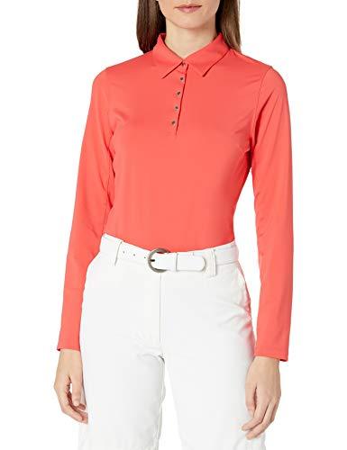 Cutter & Buck Damen Poloshirt, feuchtigkeitsableitend, UPF 50+, langärmlig - Pink - Mittel