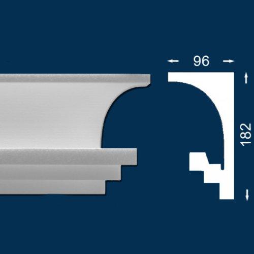 20 Meter Lichtleiste Wiesemann LL9 - Stuckleiste für indirekte Beleuchtung Sparpack