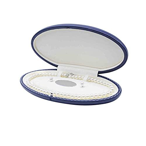 Caja de Collar, Cajas de Reloj cuadradas de Cuero de PU, Soporte de joyería para Collar de Regalo Caja Individual para Almacenamiento de Joyas de Collar