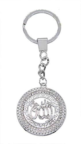 AccessCube Islamischer muslimischer Allah Islam Mohammad Schlüsselanhänger islamisch arabischer Schlüsselanhänger (Silber)