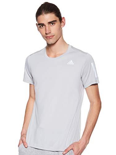 adidas Running Own The Run Sr Camiseta de Manga Corta, Hombre, Gris (Grey Two), L
