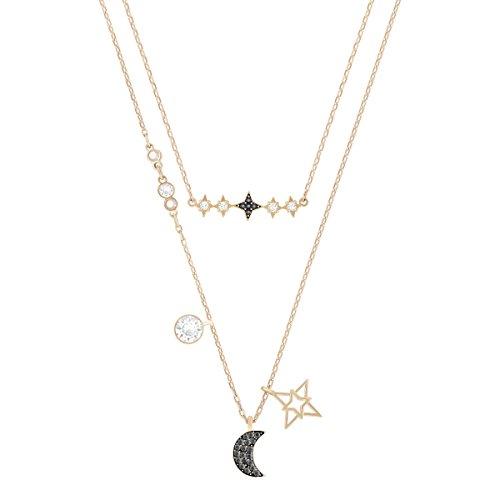 Swarovski Conjunto de collares Symbolic Moon, multicolor, Combinación de acabados metálicos