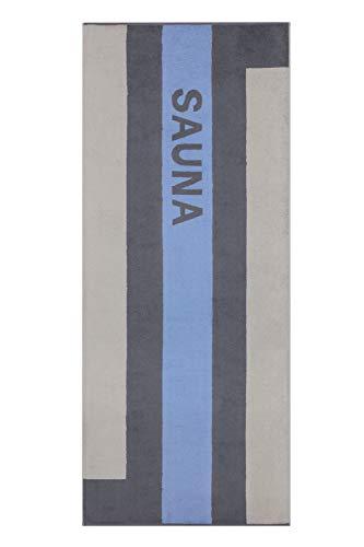 Cawö Home Sauna 232 Sky - Toalla de sauna (80 x 200 cm, 80 x 200 cm)